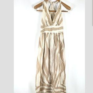 Banana Republic Linen Maxi Halter Dress - 0 W9